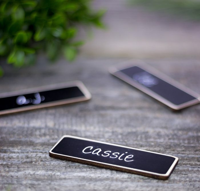 just for you - name tags